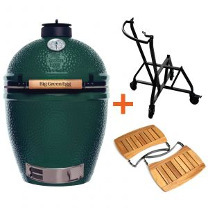 Big Green Egg Large incl. Nest integgrated Handler & Acacia Egg Mates