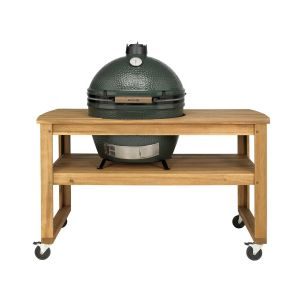 Big Green Egg XLarge incl. Acacia Tafel & Caster Kit