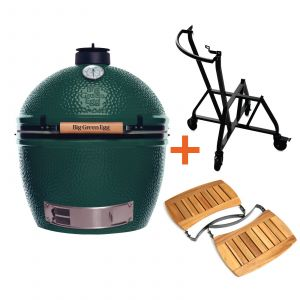 Big Green Egg XLarge incl. Nest integgrated Handler & Acacia Egg Mates