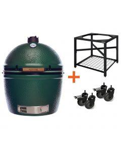 Big Green Egg 2XL incl. Egg Frame, Expansion frame met inserts & Caster Kit