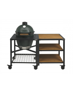 Big Green Egg Large incl. Egg Frame, Expansion Frame met Inserts & Caster Kit