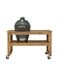 Big Green Egg Large incl. Acacia Tafel & Caster Kit