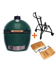 Big Green Egg XLarge incl. IntEGGrated Nest + Handler & Acacia Egg Mates